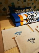 HERMES Yachting Unisex Canvas Logo Clutches