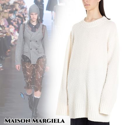 Maison Margiela Knits & Sweaters Crew Neck Wool Long Sleeves Knits & Sweaters