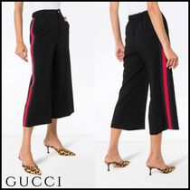 GUCCI Stripes Plain Culottes & Gaucho Pants