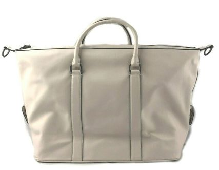 Coach Street Style A4 2WAY Plain Leather Boston Bags