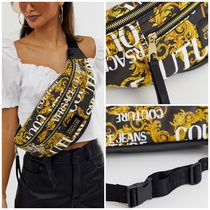 VERSACE JEANS Casual Style Unisex Street Style Shoulder Bags