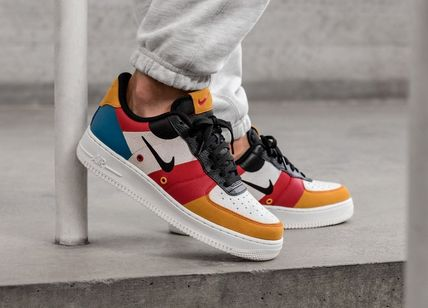 Nike AIR FORCE 1 2019 20AW Street Style Leather Sneakers (CI0065 101)