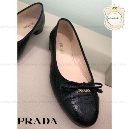 PRADA Tartan Leather Ballet Shoes