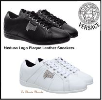 VERSACE Plain Leather Sneakers