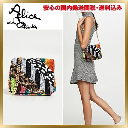 Chain Party Style With Jewels Shoulder Bags