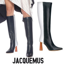 JACQUEMUS Leather Over-the-Knee Boots