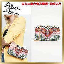 Alice+Olivia Chain Party Style With Jewels Crossbody Clutches