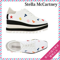 Stella McCartney ELYSE Square Toe Platform Lace-up Casual Style
