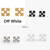Off-White Unisex Street Style Plain Earrings