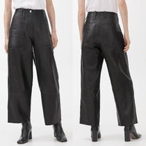 ARKET Casual Style Plain Leather Leather & Faux Leather Pants