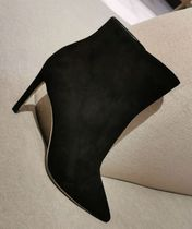 Jimmy Choo Suede Studded Plain Pin Heels Elegant Style