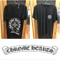 CHROME HEARTS Street Style Cotton Short Sleeves T-Shirts