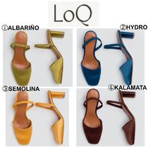 LOQ Casual Style Plain Chunky Heels Heeled Sandals