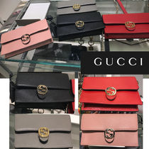 GUCCI Leather Shoulder Bags
