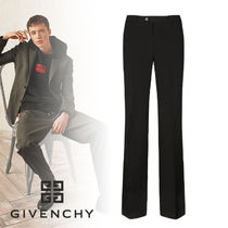 GIVENCHY Wool Street Style Plain Pants