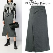 3.1 Phillip Lim Plain Medium Elegant Style Midi Skirts