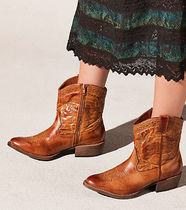 Free People Cowboy Boots Casual Style Faux Fur Plain Block Heels