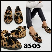 ASOS Leopard Patterns Round Toe Casual Style Blended Fabrics