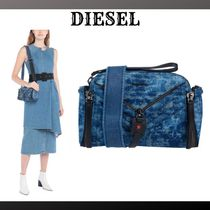DIESEL Casual Style Denim Plain Logo Shoulder Bags