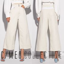 Cameo the Label Denim Bi-color Plain Long Wide & Flared Jeans