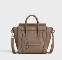 CELINE Luggage Casual Style Calfskin 2WAY Plain Formal Style  Shoulder Bags