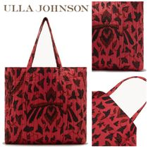 ULLA JOHNSON Tropical Patterns Casual Style Totes
