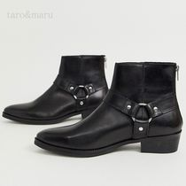 ASOS Plain Toe Plain Leather Boots