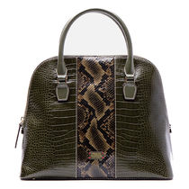 FRANCIS VALENTINE Casual Style Other Animal Patterns Leather Shoulder Bags