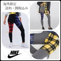 Nike Tartan Street Style Bi-color Cotton Leggings Pants