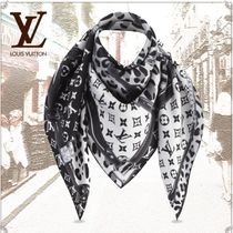 Louis Vuitton MONOGRAM Monogram Leopard Patterns Unisex Silk