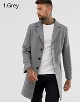 ASOS Wool Plain Chester Coats
