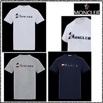 MONCLER Plain Cotton T-Shirts