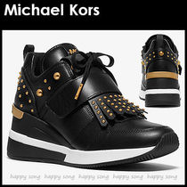 Michael Kors Round Toe Casual Style Studded Street Style Bi-color Plain