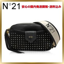 N21 numero ventuno Studded Leather Elegant Style Shoulder Bags