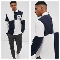 Tommy Hilfiger Stripes Street Style Long Sleeves Oversized Polos