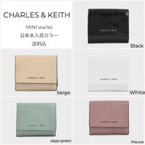 Charles&Keith Faux Fur Plain Folding Wallets