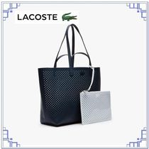 LACOSTE Casual Style A4 Plain Leather Totes