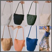 Paloma Wool Casual Style Unisex Tassel Plain Leather Shoulder Bags