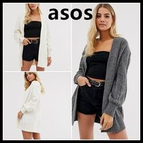ASOS Cable Knit Casual Style Long Sleeves Plain Long Knitwear