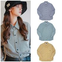 WV PROJECT Casual Style Unisex Street Style Long Sleeves Cotton Medium