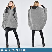 Aakasha Other Check Patterns Medium Handmade Ponchos & Capes