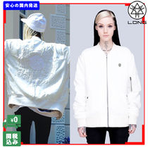 LONG CLOTHING Star Casual Style Unisex Street Style Medium MA-1