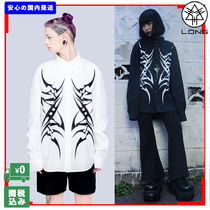 LONG CLOTHING Casual Style Unisex Street Style Long Sleeves Plain Cotton