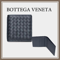 BOTTEGA VENETA Calfskin Street Style Plain Folding Wallets