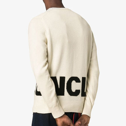 MONCLER Sweaters Crew Neck Pullovers Wool Blended Fabrics Bi-color 3