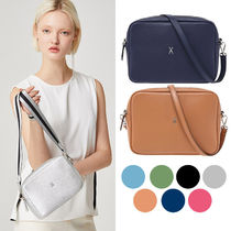 JOSEPH&STACEY Casual Style 2WAY Plain Leather Crossbody Small Shoulder Bag