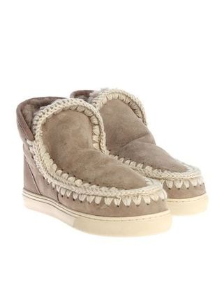 Round Toe Casual Style Sheepskin Plain Boots Boots