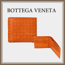 BOTTEGA VENETA Calfskin Plain Folding Wallets