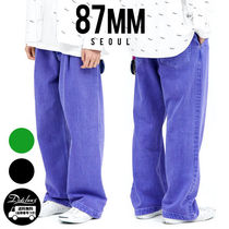 87MM Unisex Street Style Plain Cotton Jeans & Denim