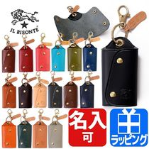 IL BISONTE Leather Keychains & Holders
